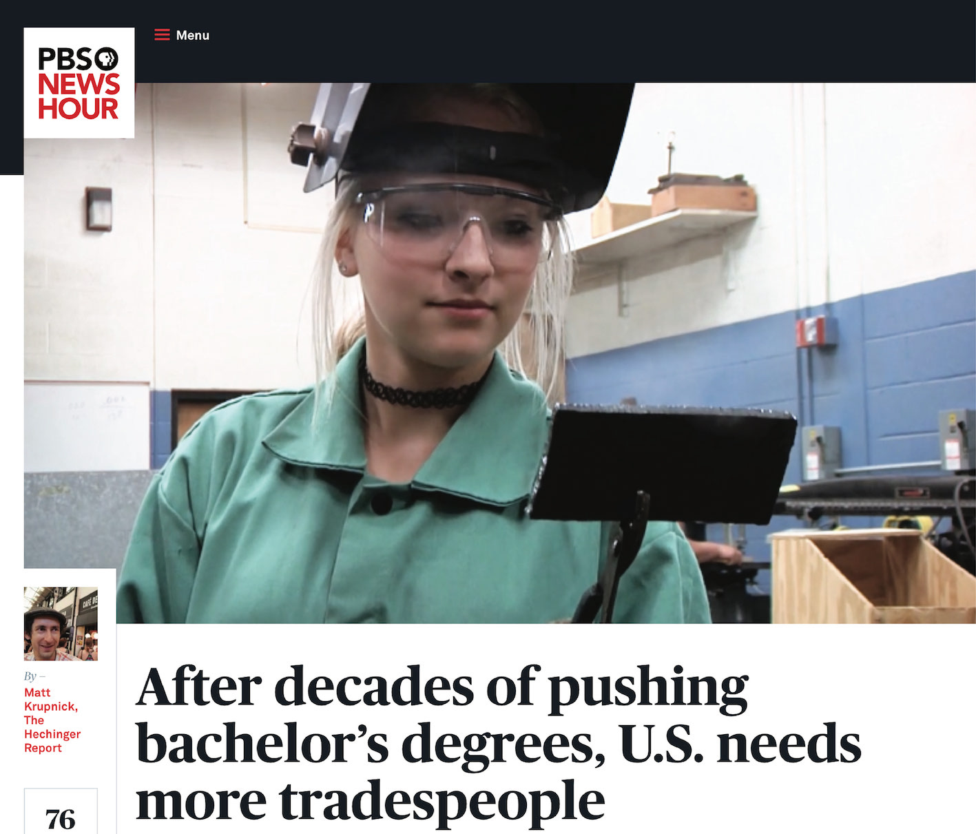 Skilled Trade Article - cover image